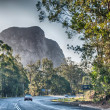 Beautiful colors of Glasshouse Mountains Park in Australia — Stock Photo