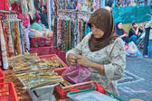 KUALA LUMPUR - JUN 10: Typical market on city streets, June 10, — Stock Photo
