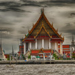 Bangkok architecture and cityscape with Chao Phraya river — Stock Photo