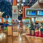 DUBAI - AUG 29: Modern structure of Dubai Airport on August 29, — Stock Photo