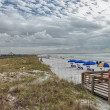 HONEYMOON ISLAND - FLORIDA - JAN 6: Tourists enjoy park beach — Foto Stock