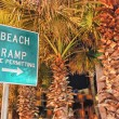 Beach Ramp sign, DatonBeach — Stock Photo #30159507