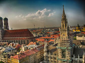 Munich, Germany. Wonderful view of ancient city architecture — Stock Photo