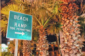 Beach Ramp sign, Datona Beach — Stock Photo