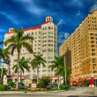 MIAMI - JAN 3: Beautiful city architecture and colors in winter, — Stock Photo #30160151