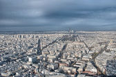 Paris. Wonderful aerial city view in winter — Stock Photo