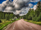 Beautiful countryside road — Stock Photo