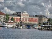 Typiska byggnader i köpenhamn - danmark. — Stockfoto