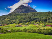 Wonderful countryside colors of Norway - Summer season — Stock Photo