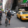 Stock Photo: NEW YORK CITY - SEP 27: NYPD Police officer on bike