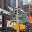 NEW YORK CITY - SEP 22: Times Square colors and ads on September — Stock Photo #30172449