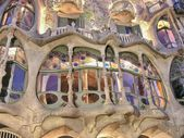BARCELONA - APR 24: Casa Mila or La Pedrera on April 24 — Stock Photo