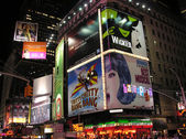 NEW YORK CITY - SEP 28: Lights and advertisements of Times Square — Stock Photo