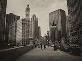Chicago - set 20: turisti godono le strade della città, il 20 settembre — Foto Stock