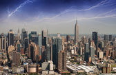 Spectacular helicopter view of West Midtown and Chelsea - Manhat — Stock Photo