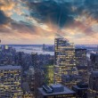 Sunset above New York City Skyscrapers — Stock Photo