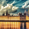 Stock Photo: London. Spectacular night view of Westminster