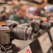 Stock Photo: DSLR camerin photographic shop