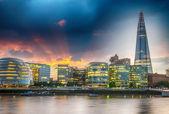New London city hall at sunset. — Stock Photo