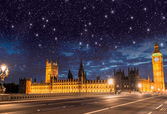 London. Houses of Parliament and Westminster Bridge — Stock Photo