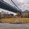 Metallic structure of Manhattan Bridge — ストック写真