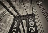 Metallic structure of Manhattan Bridge Pylon — Стоковое фото