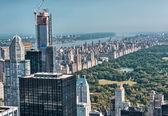 Underbara flygfoto över central park — Stockfoto