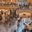 NEW YORK - MAY 19: People move in Grand Central Main Concourse — Stock Photo
