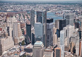 Aerial view of Lower Manhattan buildings — Stock Photo