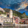 Quaint Village of Riomaggiore — Stock Photo