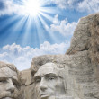 Mount Rushmore - Roosevelt and Lincoln sculpture — Stock Photo