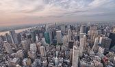 прекрасный вид с воздуха небоскребы манхэттена — Стоковое фото