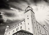 Dramatic Sky above Bratislava Castle — Stock Photo