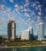 佛罗里达州迈阿密市的以上精彩日落. — 图库照片