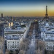 Aerial view of Paris with Eiffel Tower — Foto de Stock