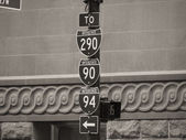 Chicago Street Signs, Illinois — Stock Photo