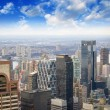 Stock Photo: New York City Manhattan panorama aerial view with skyline