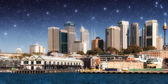 Skyscrapers of Sydney Harbour in Port Jackson, natural harbour o — Stock Photo