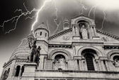 Stormy Weather above Sacre Coeur in Paris — Stock Photo