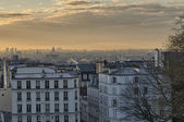 Stunning view of Paris in winter from Montmartre — Stock Photo