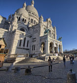 Paris. Montmartre quarter in winter — Stock Photo