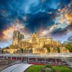 Paris, La Cathedrale de Notre Dame. Famous Cathedral with cruise — Stock Photo #31820655