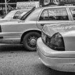 NEW YORK - JUN 11: Yellow cab speeds through Times Square — Stock Photo #31825057