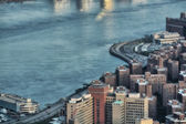 East side of Manhattan, wonderful aerial view of skyscrapers — Stock Photo