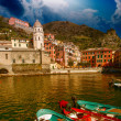 Cinque Terre, Italy. Beautiful view in Spring Season — Stock Photo