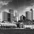 Skyscrapers of Sydney Harbour in Port Jackson — Stock Photo