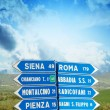 Road signs pointing different directions in Tuscany — Stock Photo #31839881