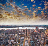 Modern city skyscrapers and skyline — Stock Photo