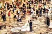 NEW YORK CITY - JUN 10: A married couple — Stock Photo