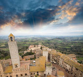 Classic medieval town of San Gimignano, Italy. — Stock Photo